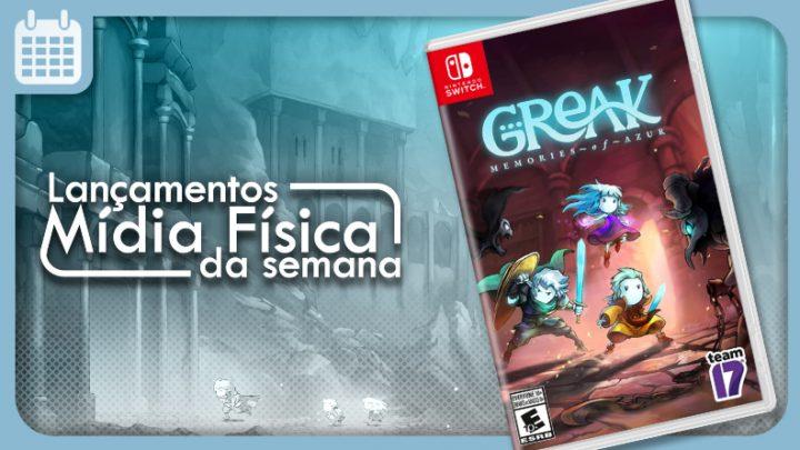 Lançamentos em mídia física da semana   Greak: Memories of Azur, Phantasy Star Online 2: New Genesis — Cloud, e mais