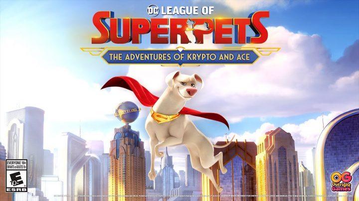 Outright Games anuncia o jogo de ação 3D on-rails DC League of Superpets: The Adventures of Krypto and Ace para o Nintendo Switch