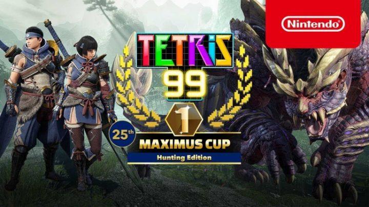 Tetris 99 | 25th MAXIMUS CUP, com o tema Monster Hunter Rise, acontecerá nesta sexta-feira, 08 de Outubro