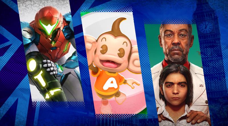 Reino Unido: Em sua estreia, Super Monkey Ball: Banana Mania vê 70% de suas vendas no Nintendo Switch, enquanto Metroid Dread teve o maior lançamento na história da franquia