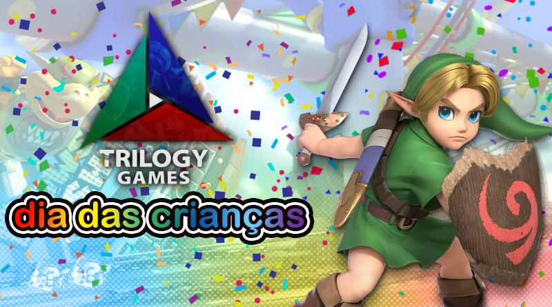 Dia das Crianças Trilogy Games: Aproveite descontos especiais em consoles Nintendo Switch, jogos em mídia física, acessórios, e mais